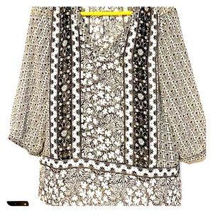 3/4 sleeve boho blouse